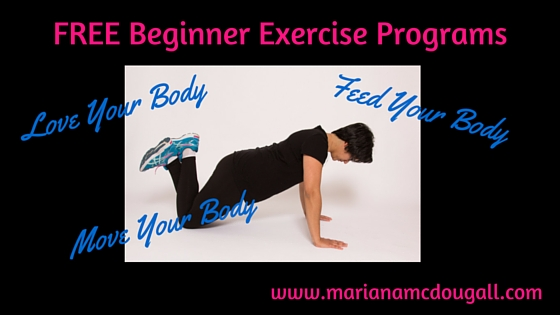 FREE Beginner Exercise Routines – get off the couch and get active with me!