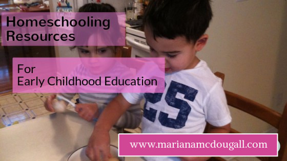 Homeschooling Resource List – Early Childhood
