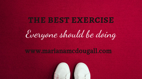 the best exercise everyone should be doing; www.marianamcdougall.com, photo of white lace up shoes on red background Photo by Christian Chen on Unsplash