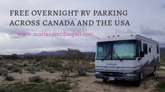 Free Overnight Parking for RVs across Canada and the USA