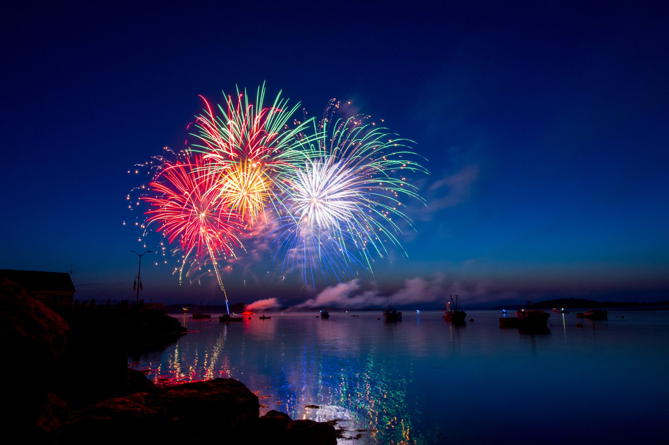 New Year's Resolutions in a time of uncertainty. Picture of fireworks over water, by Ray Hennessy on Unsplash
