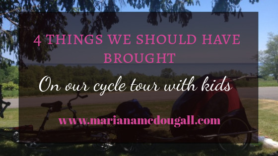 4 things we should have brought on our cycle tour with kids