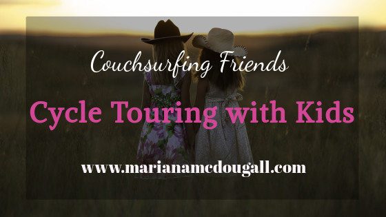 couchsurfing friends, cycle touring with kids