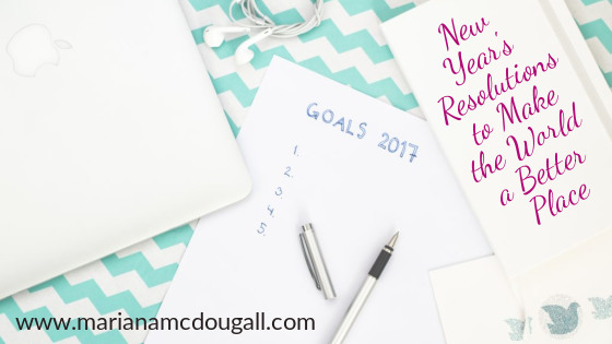 New Year's Resolutions to Make the World a Better Place